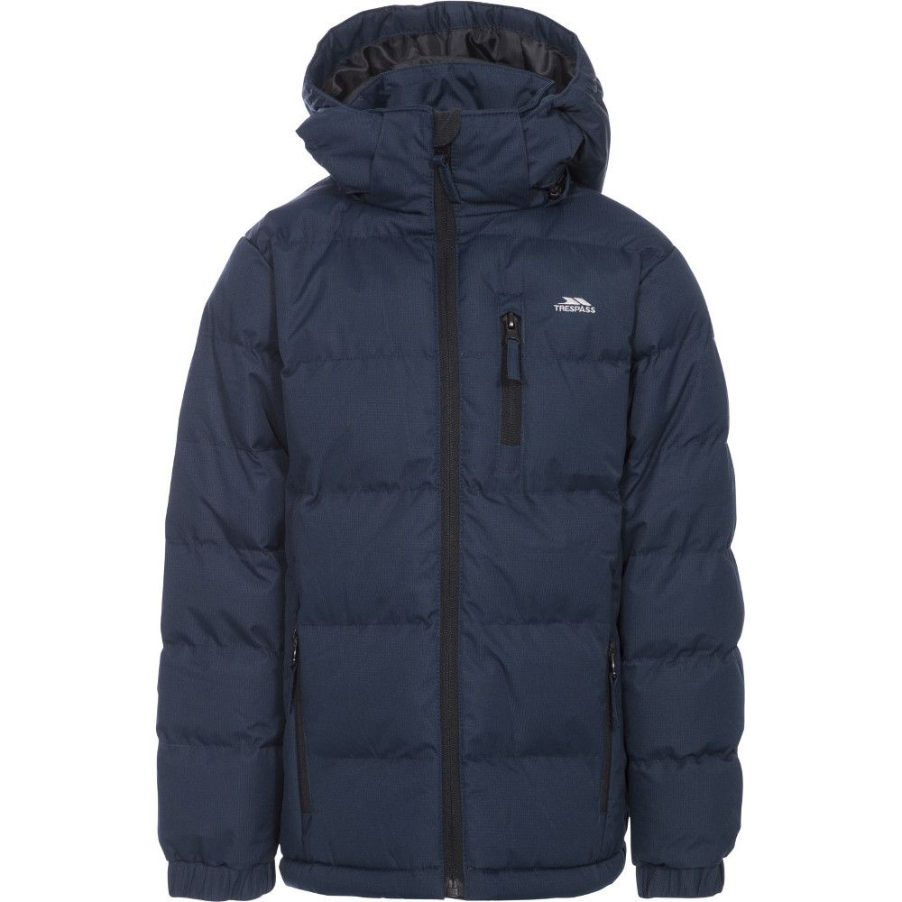 Trespass Boys Tuff Warm Thick Padded Winter Jacket Black
