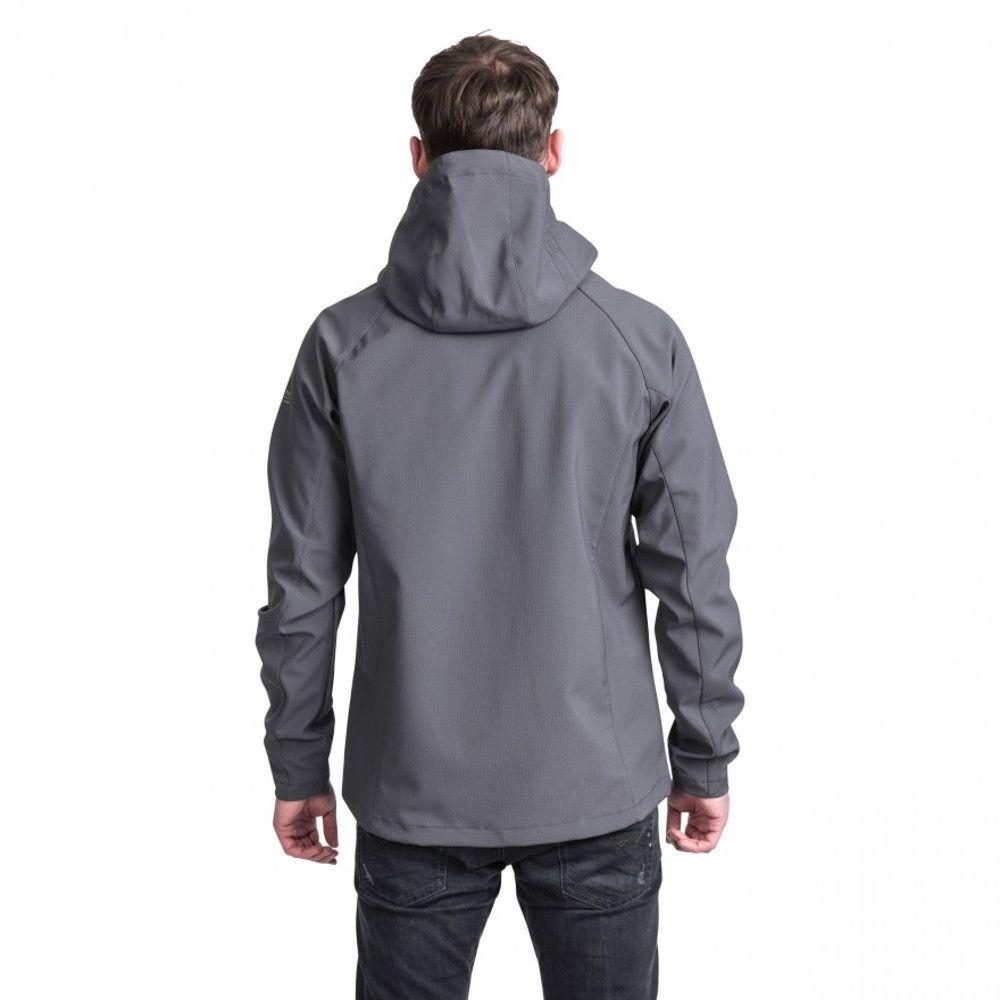 Trespass Mens Nider Hooded Waterproof Zip Softshell Jacket Coat