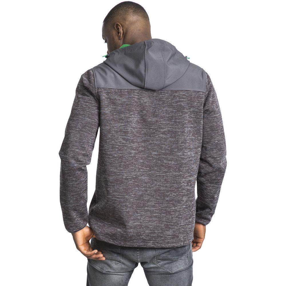 Trespass Mens Hendricks Waterproof Breathable Hooded Softshell Jacket