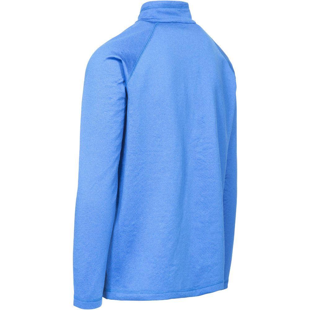 Trespass Mens Jozef Half Zip Quick Drying Long Sleeve Running T Shirt
