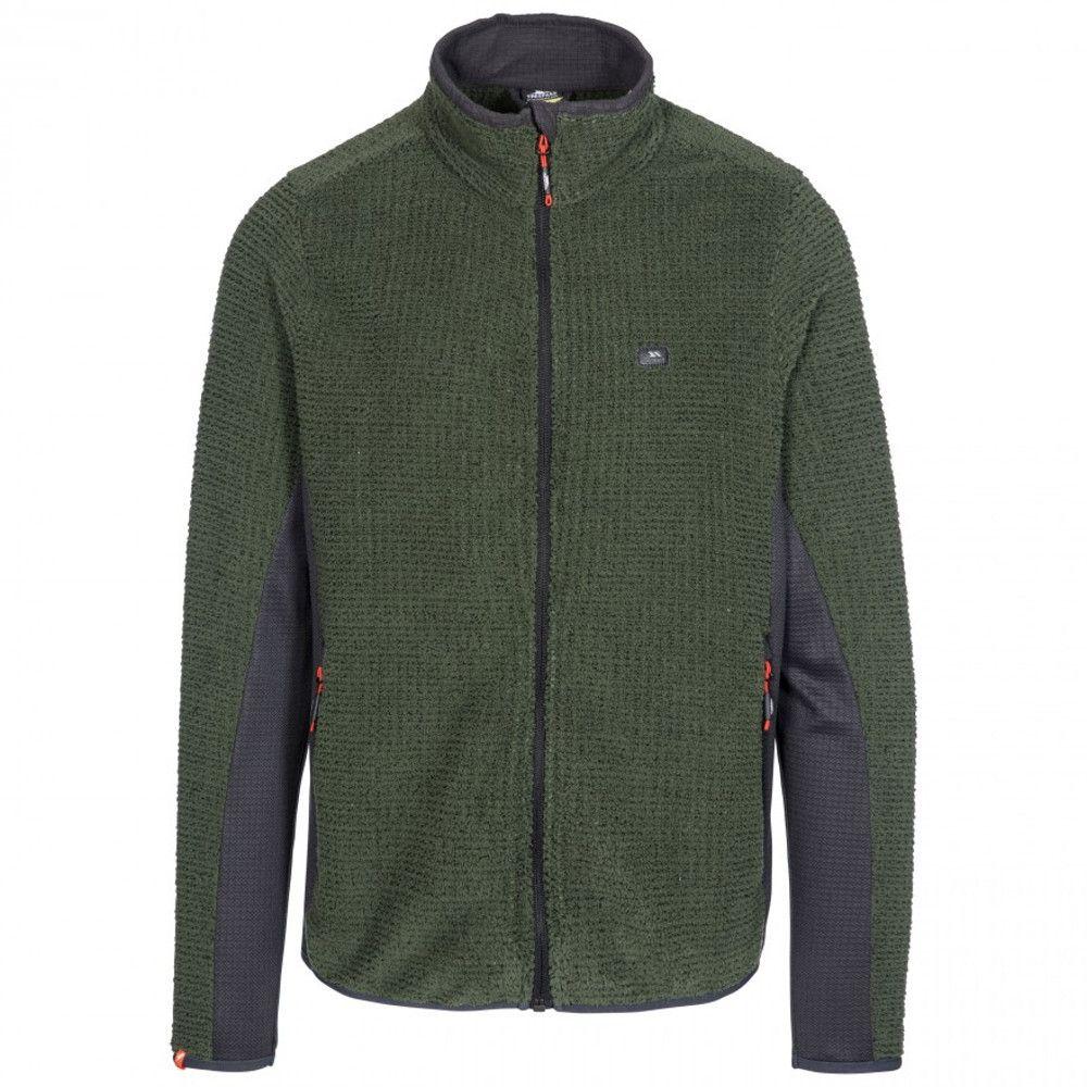 Trespass Mens Templetonpeck Full Zip Warm Fleece Jacket