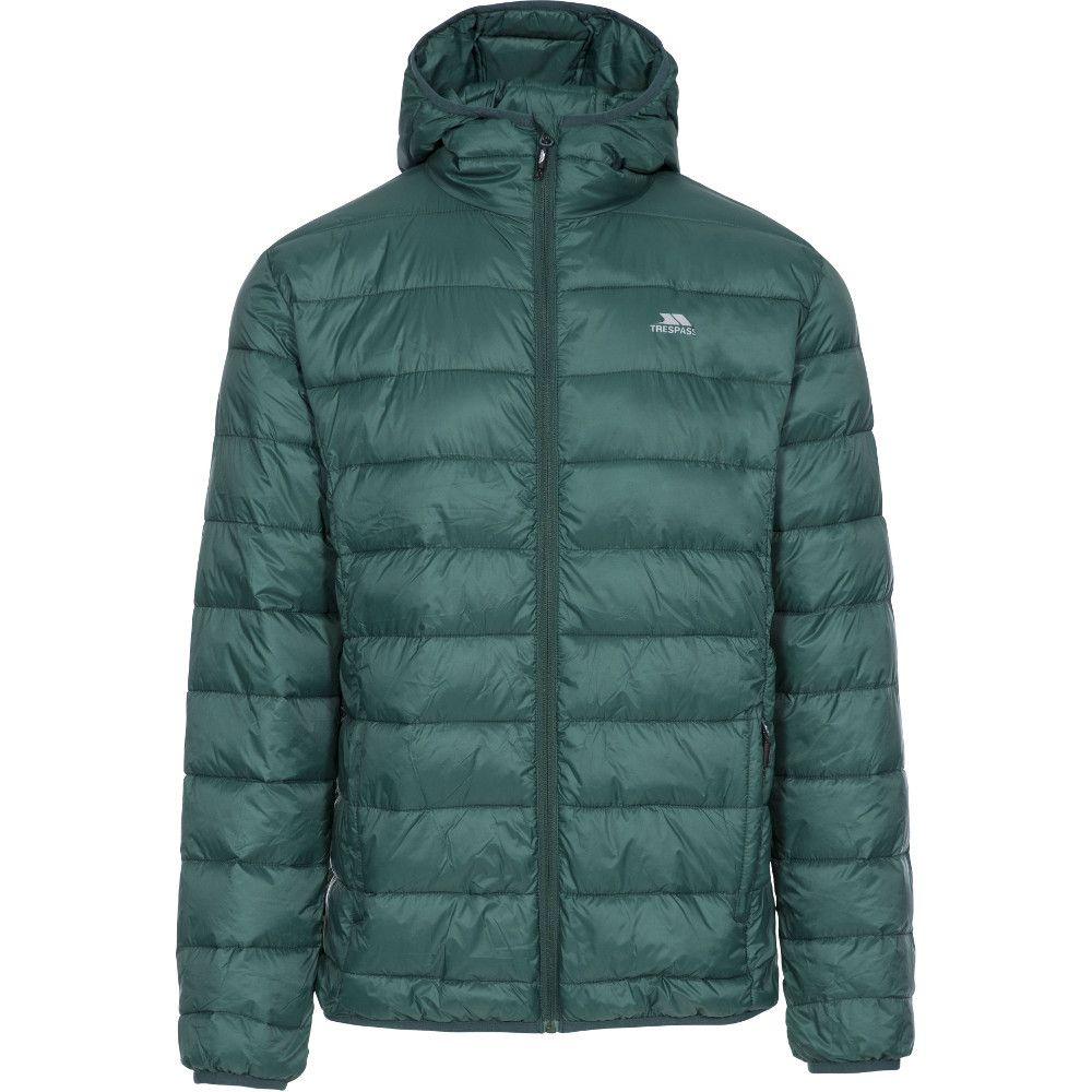 Trespass Mens Carruthers Padded Hooded Casual Jacket