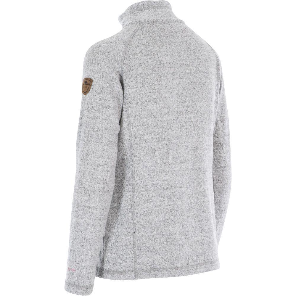 Trespass Womens Tenderness Knitted Half Zip Fleece Jacket