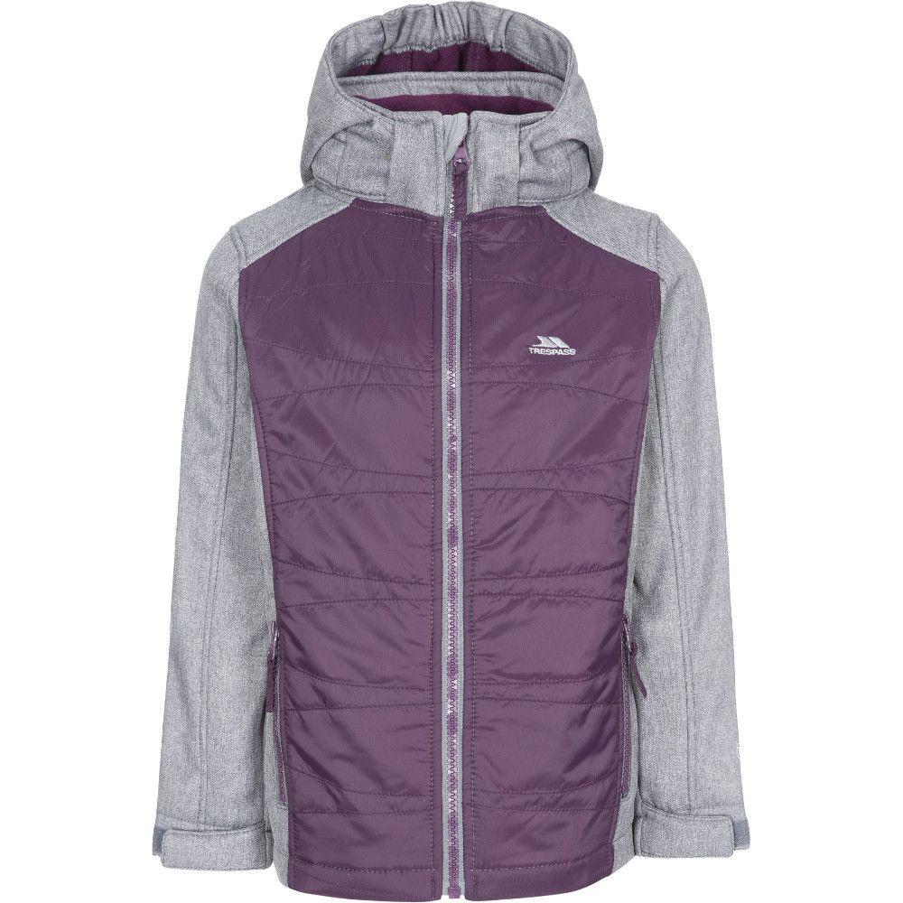 Trespass Girls Rockrose Hooded Fleece Softshell Coat
