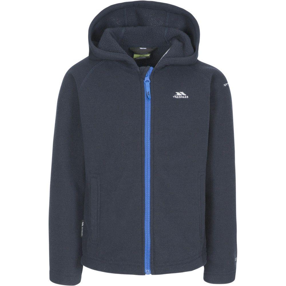 Trespass Boys Captive Full Zip Hooded Fleece Jacket