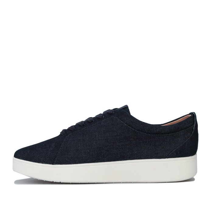 Women's Fit Flop Rally Denim Trainers in Denim