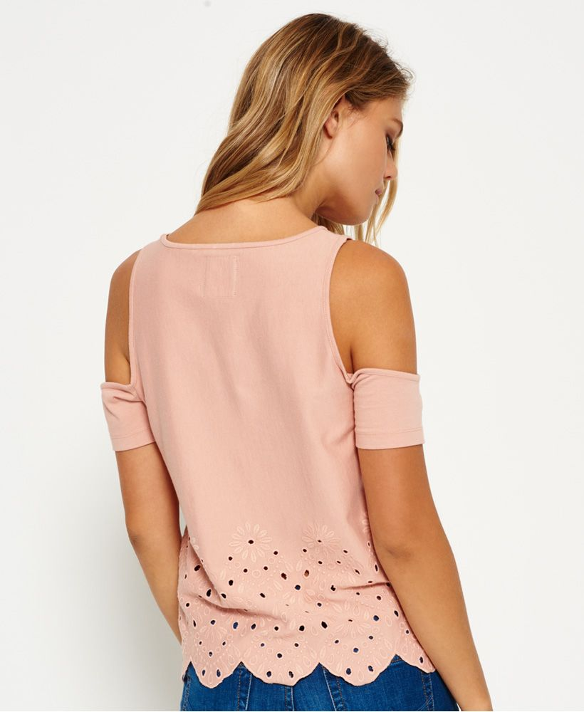 Superdry Cutwork Cold Shoulder Top