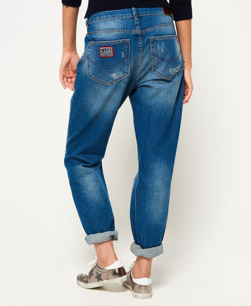 Superdry Harper Boyfriend Badged Jeans