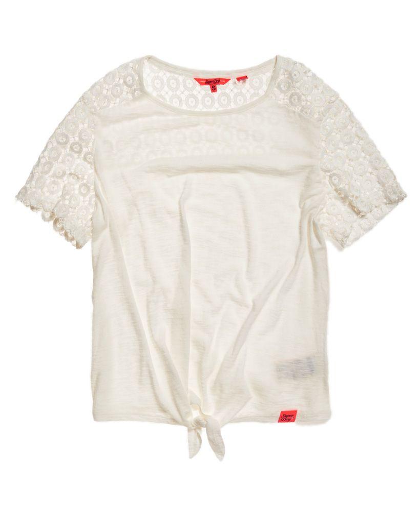 Superdry San Juan Lace Sleeve T-Shirt