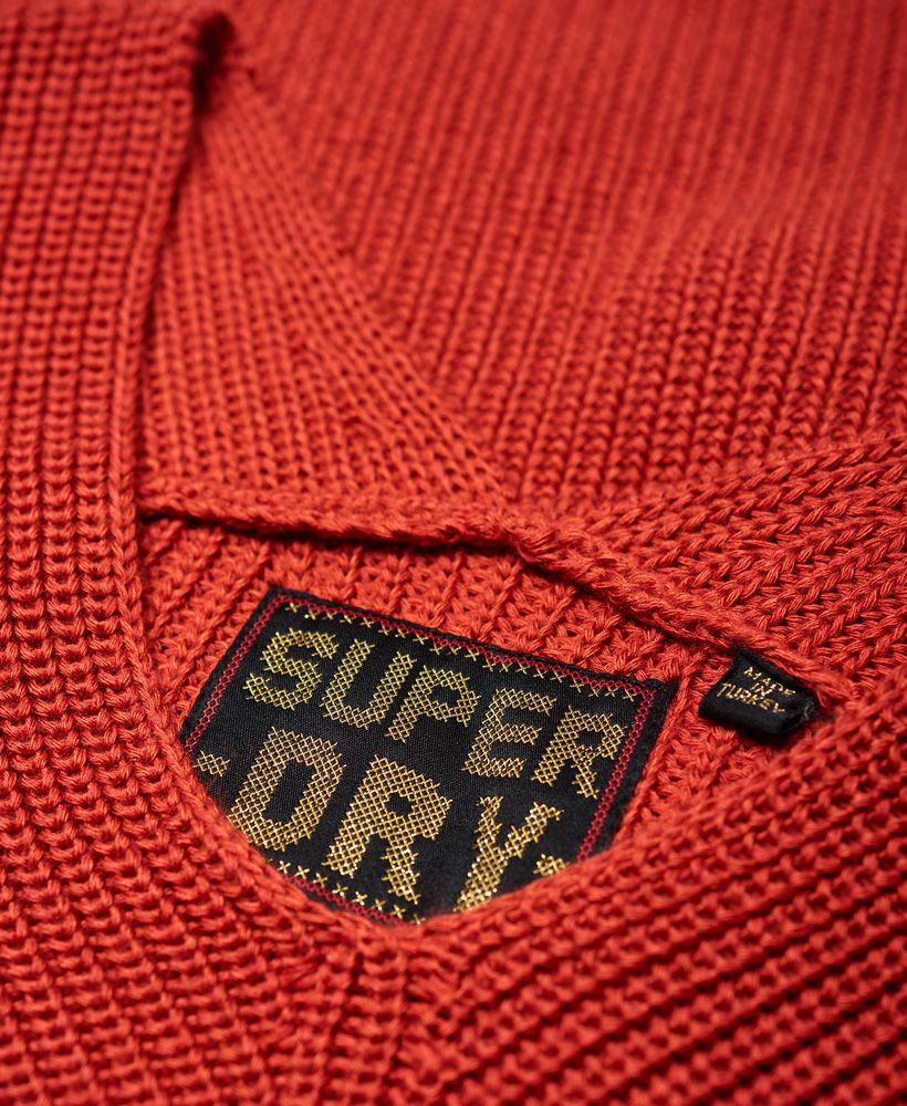 Superdry Cora Ribbed Vee Jumper
