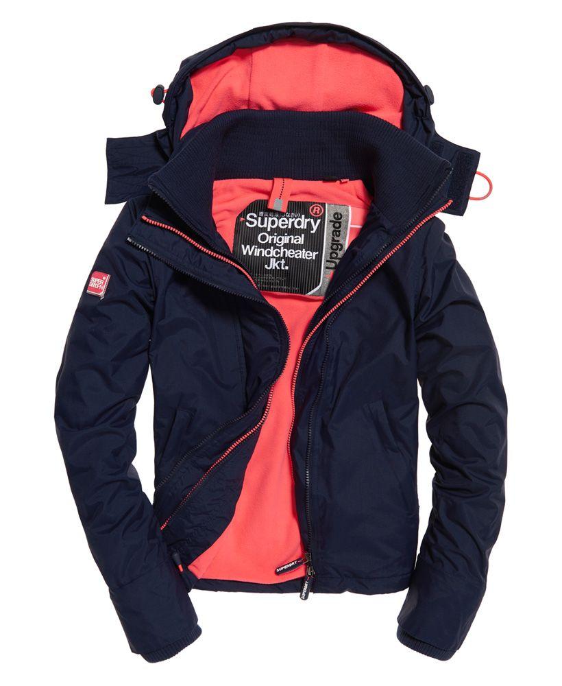 Superdry Pop Zip Hood Arctic SD-Windcheater Jacket