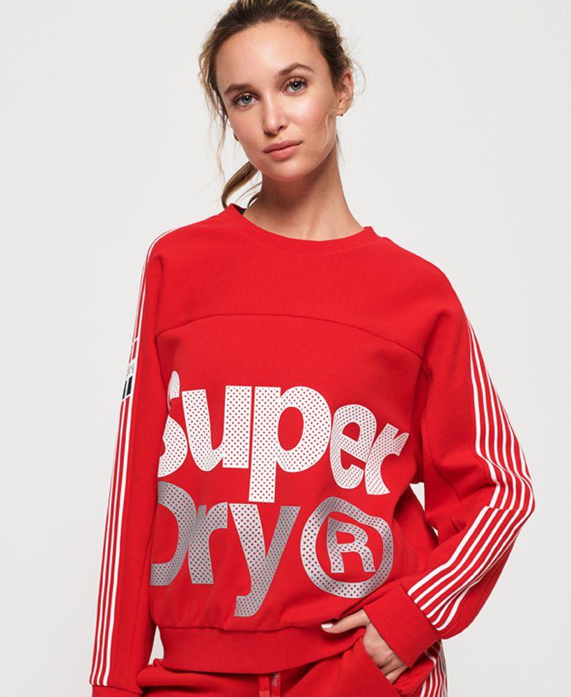 Superdry Athletico Crop Crew Sweatshirt