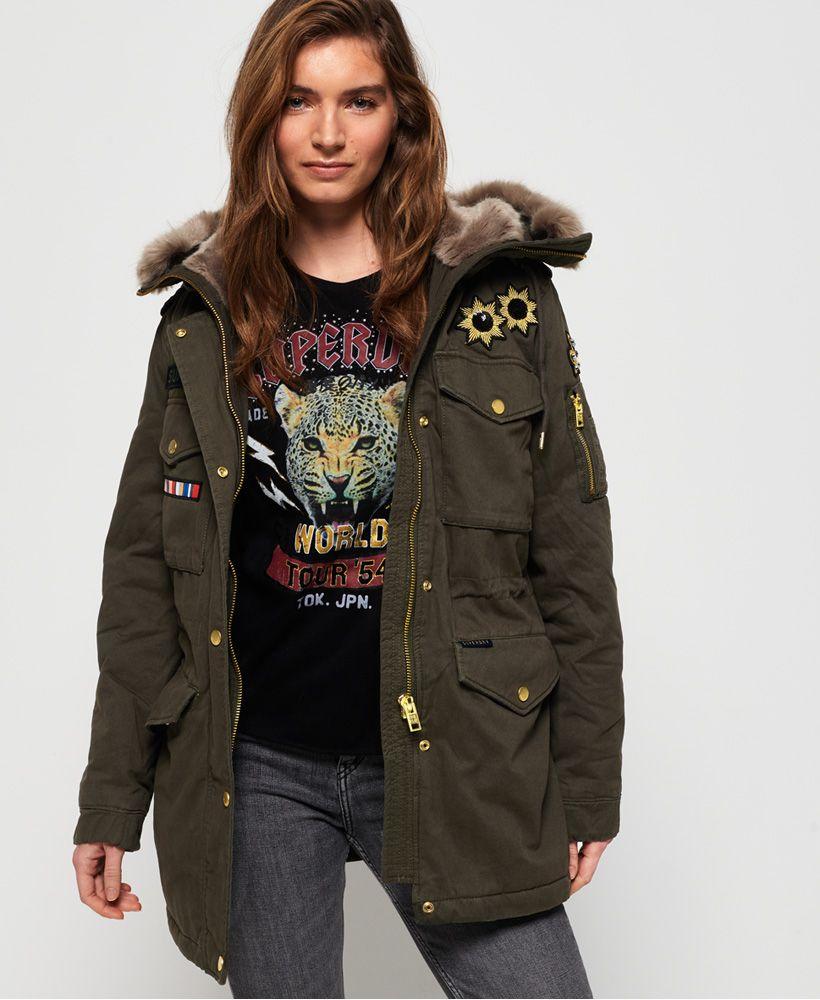 Superdry Rookie Rock Royalty Parka Jacket