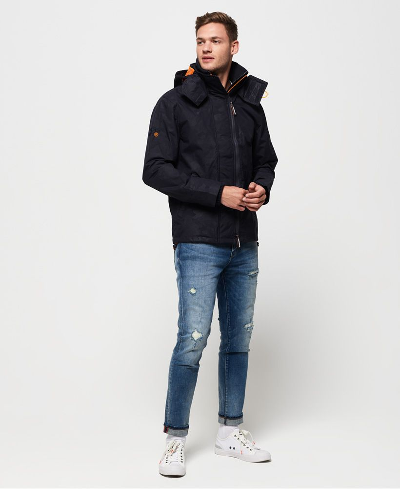 Superdry Tech Hooded Print Pop Zip SD-Windcheater Jacket