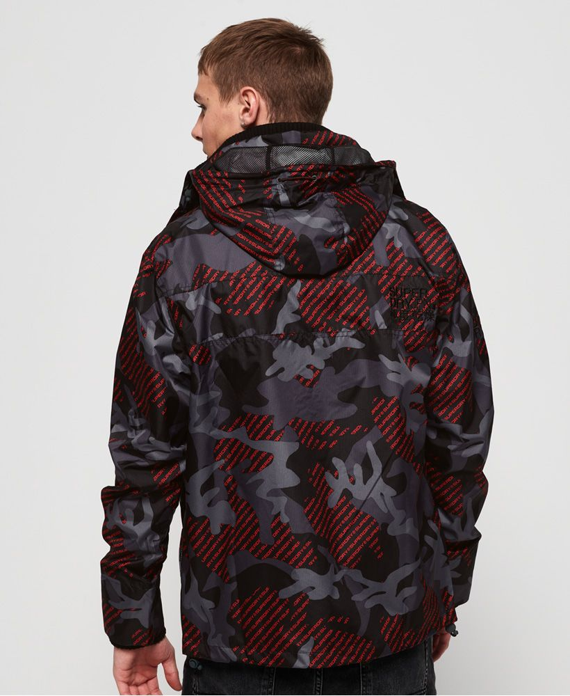 Superdry Tech Hooded Print Pop Zip SD-Windcheater Jacket