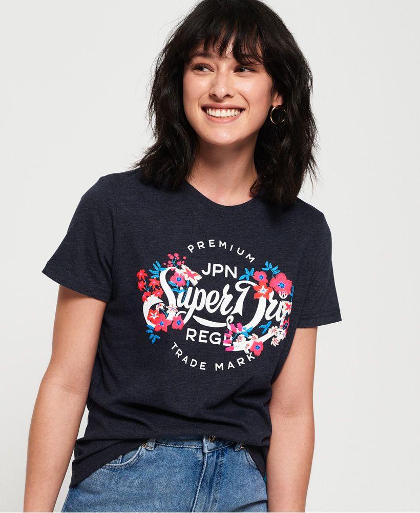 Superdry Premium Script Floral T-Shirt
