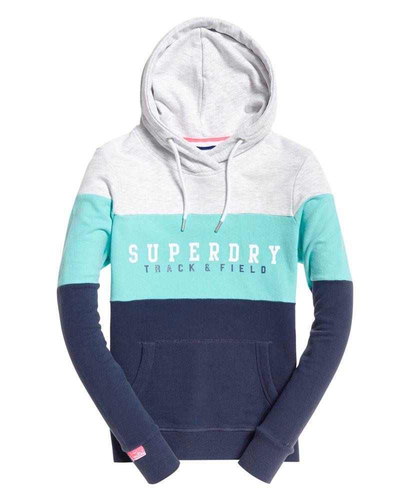 Superdry Track & Field Lightweight Colour Block hoodie