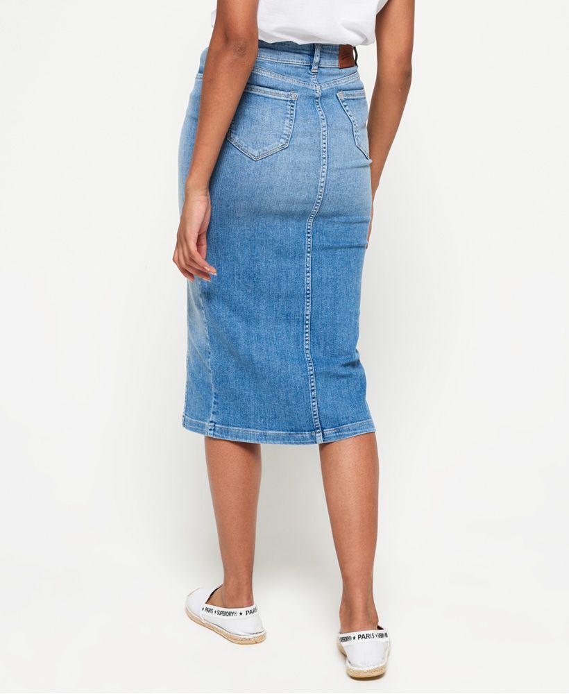 Superdry Denim Midi Pencil Skirt