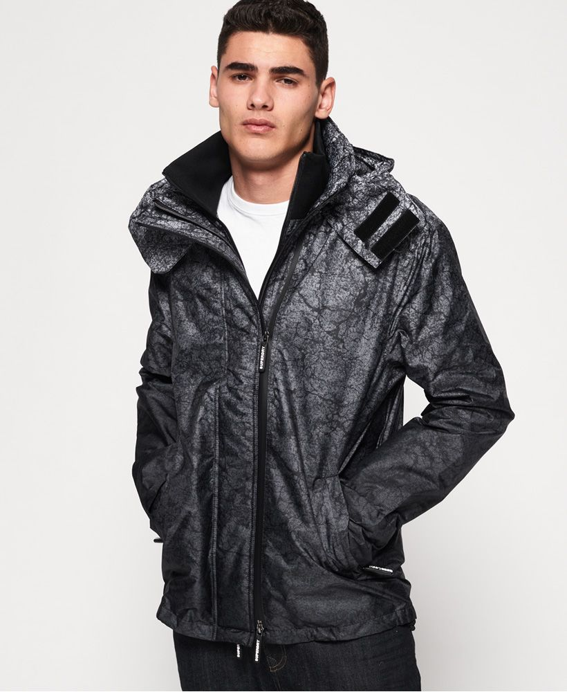 Superdry Hooded Print Pop Zip SD-Windcheater Jacket