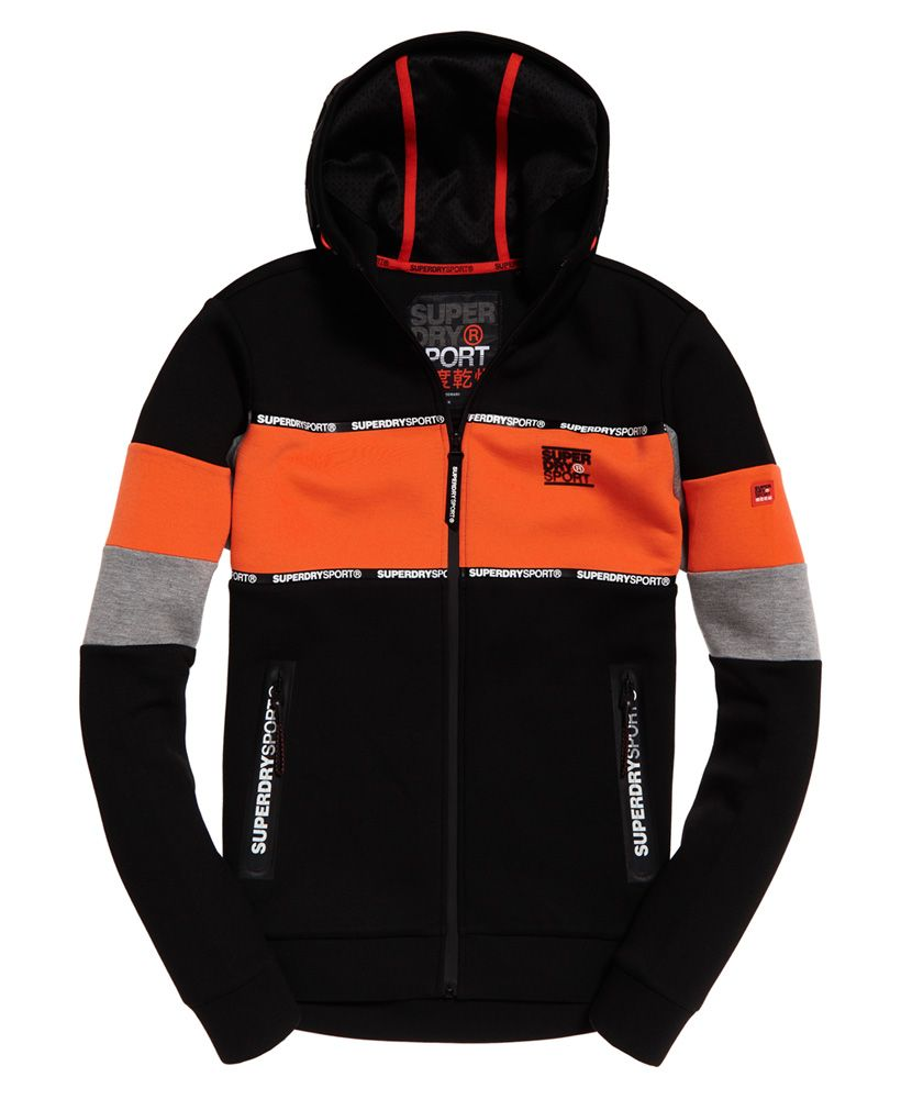 Superdry Gym Tech Stretch Blocked Zip Hoodie