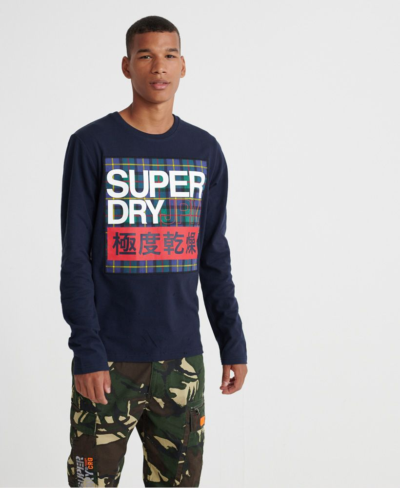 Superdry Crafted Check Long Sleeved T-Shirt