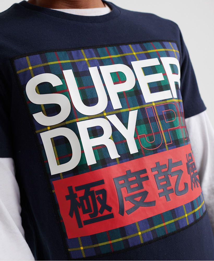 Superdry Crafted Check T-Shirt