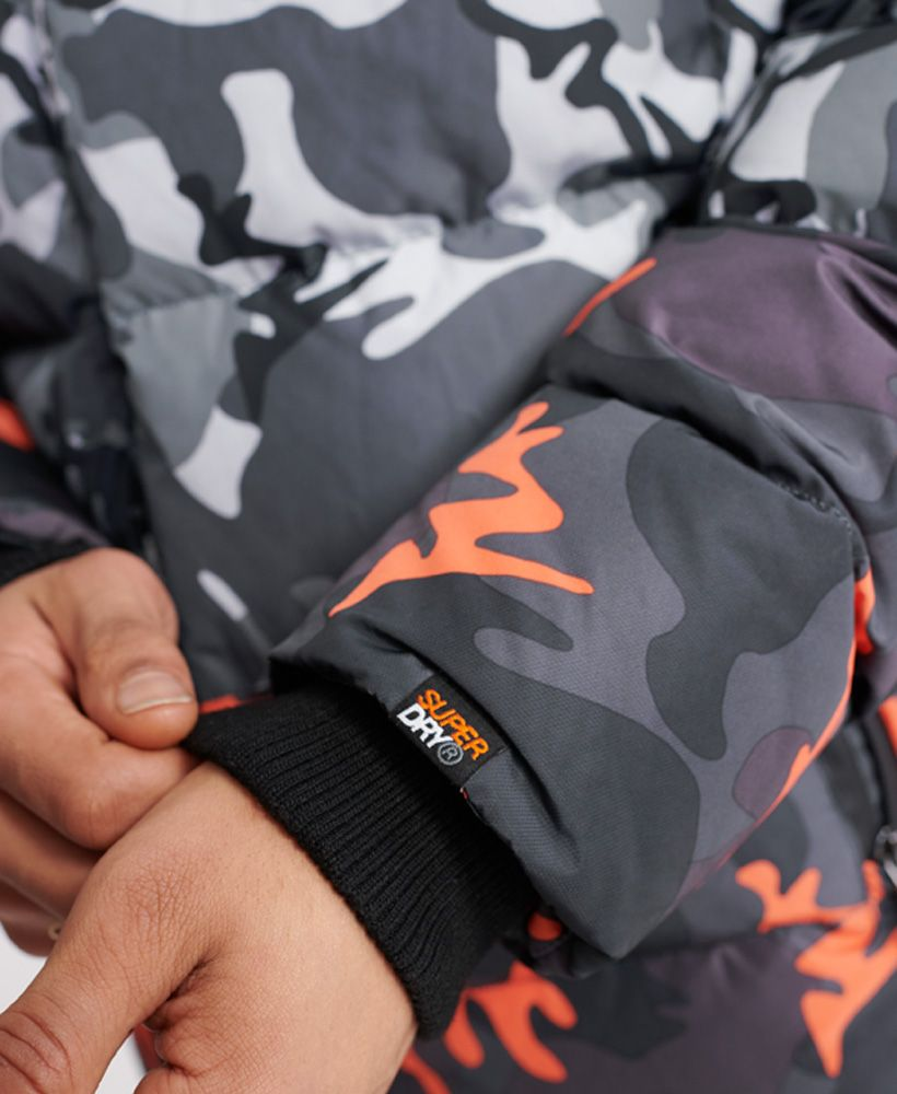 Superdry Camo Mix Sports Down Puffer Coat