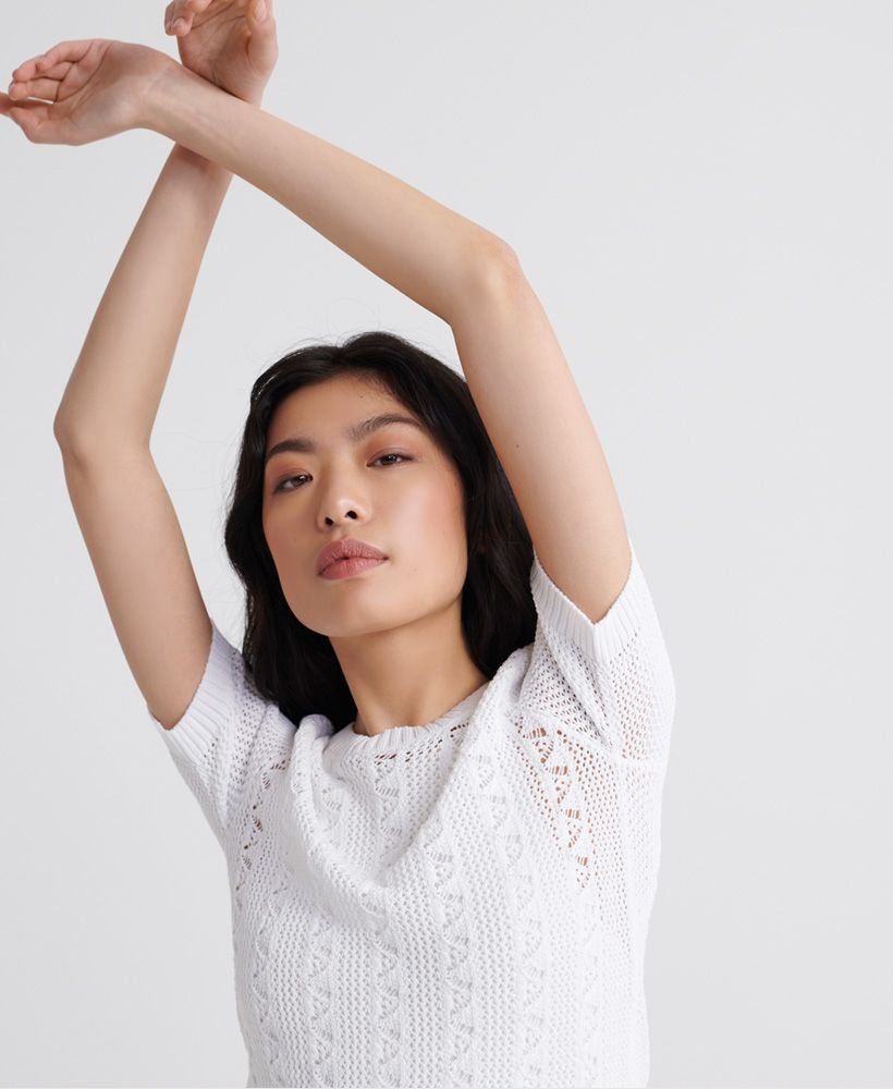 Superdry Bella Pointelle Knit Jumper