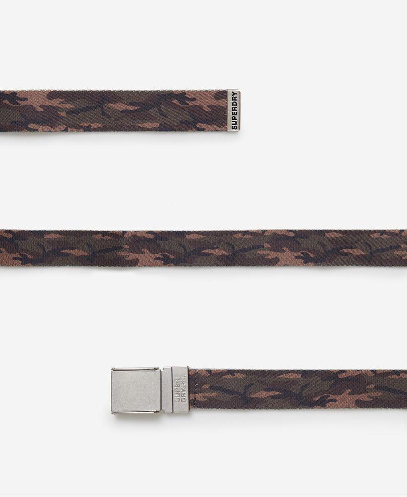 Superdry Reversible Printed Canvas Belt