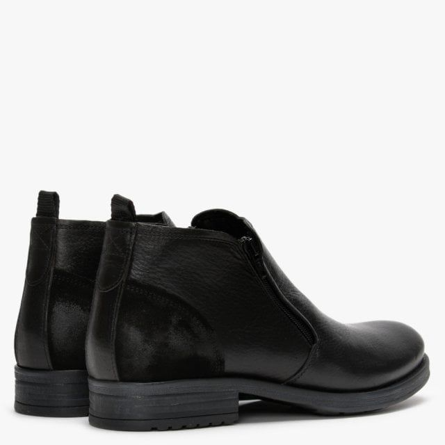 Ottonkern Leather Double Zip Ankle Boots