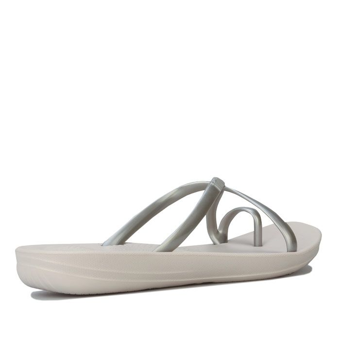 Women's Fit Flop iQushion Wave Pearlised Sandals in Silver