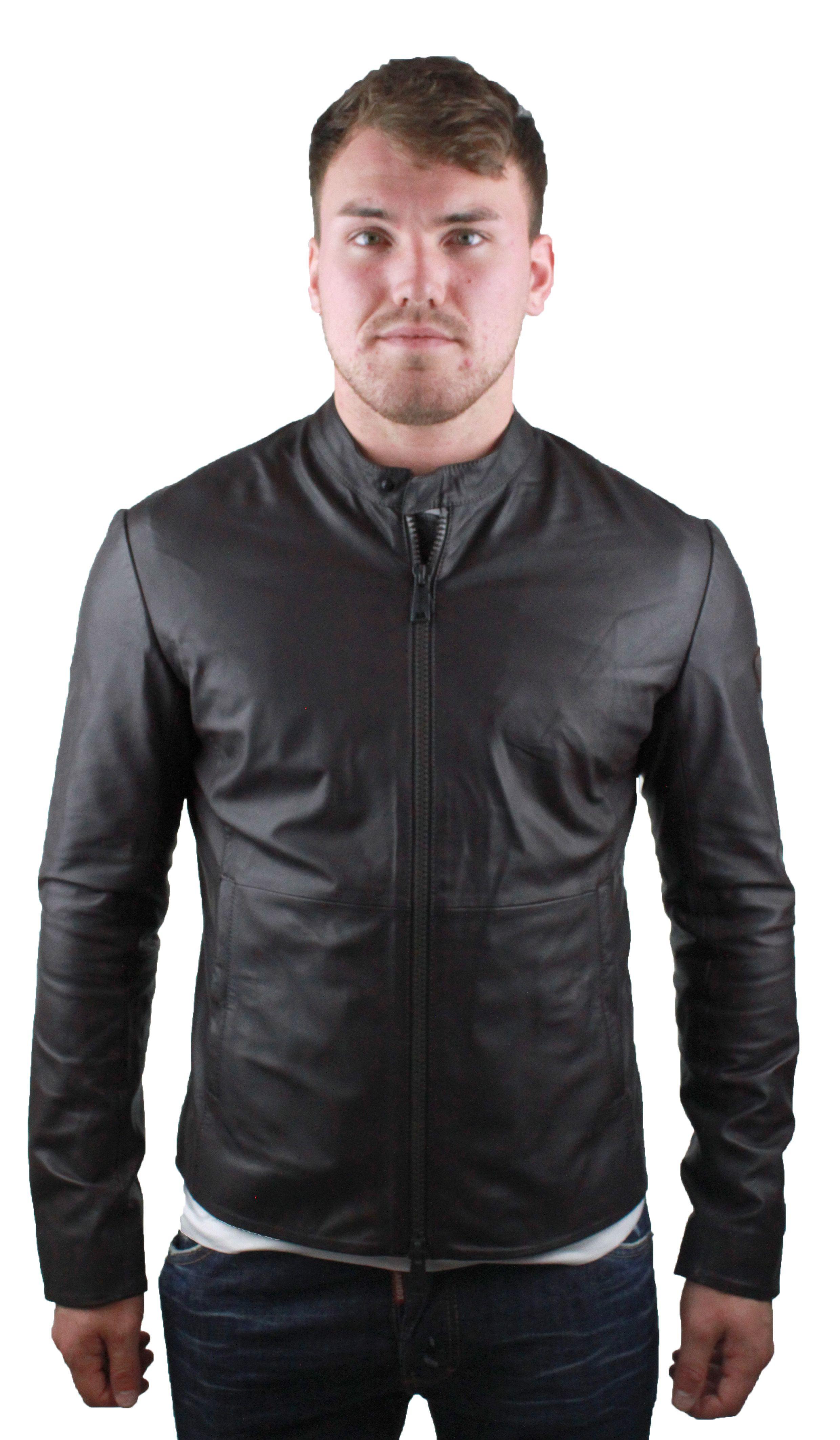 Emporio Armani W1B50P W1P52 0479 Leather Jacket