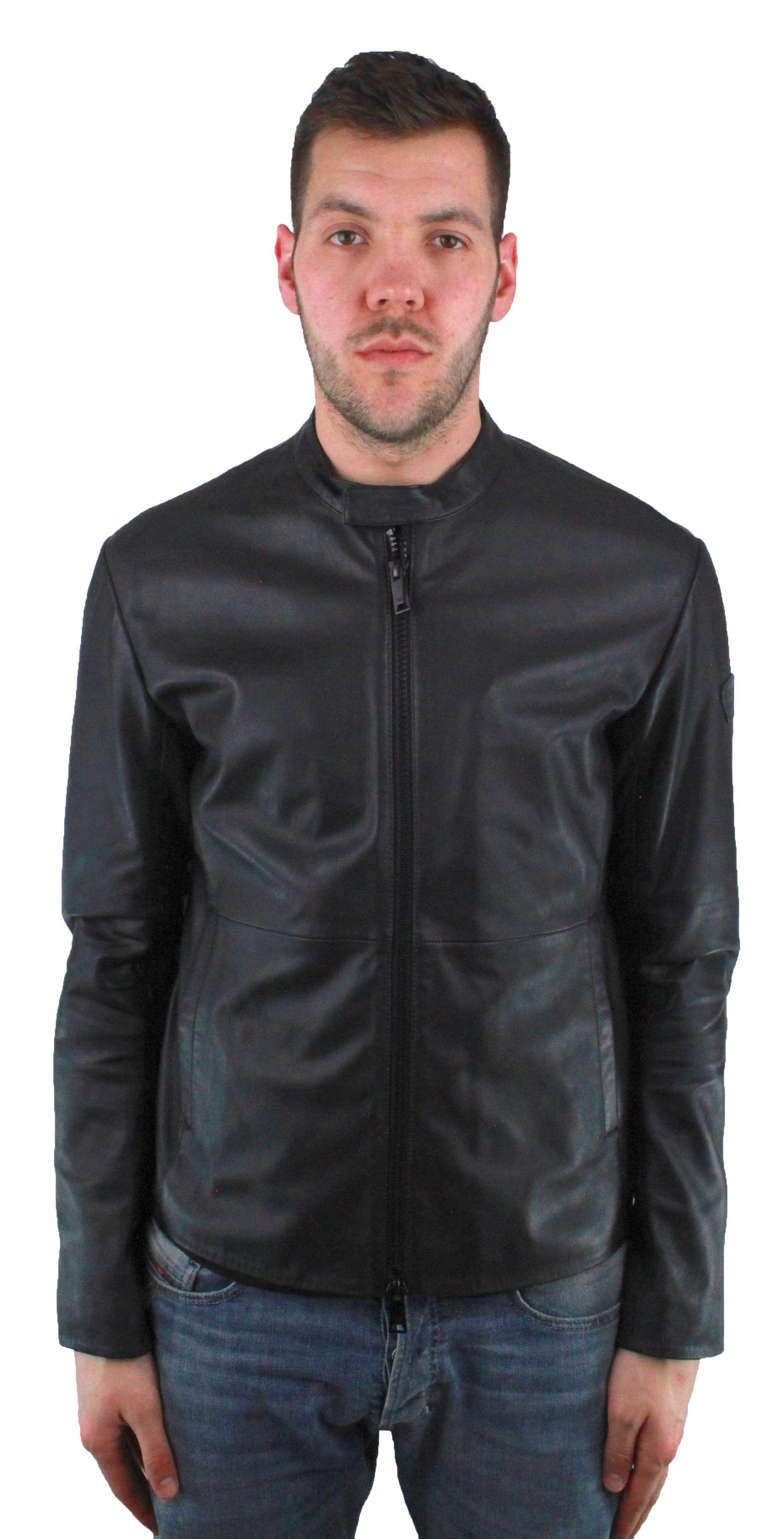 Emporio Armani W1B50P W1P52 999 Leather Jacket