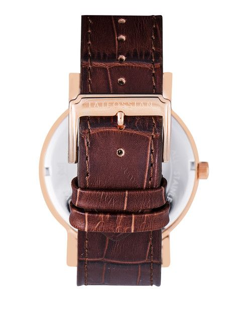 Sun and Moon leather watch