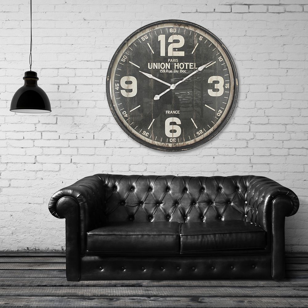 Walplus Iron Huge Wall Clock (90cm Diameter)