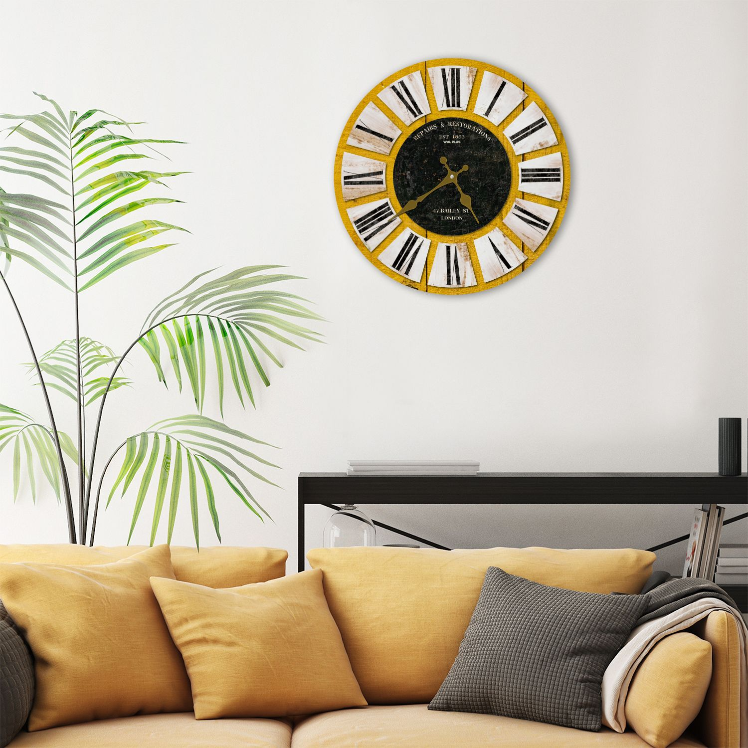 Colouful Wooden Rustic Wall Clock, DIY Art, Kitchen Decorations, Bedroom, Home Design, House Décor, Living room ideas