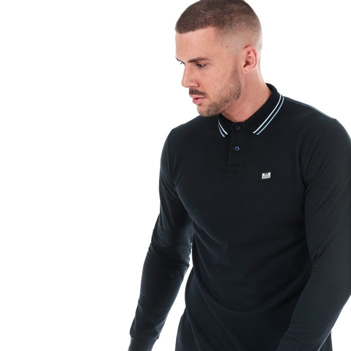 Men's Weekend Offender Drills Long Sleeve Polo Shirt in Navy