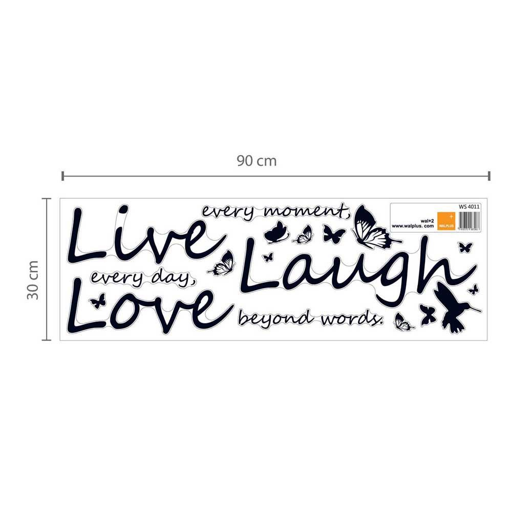 Swarovski Live Laugh Love Wall Sticker Set