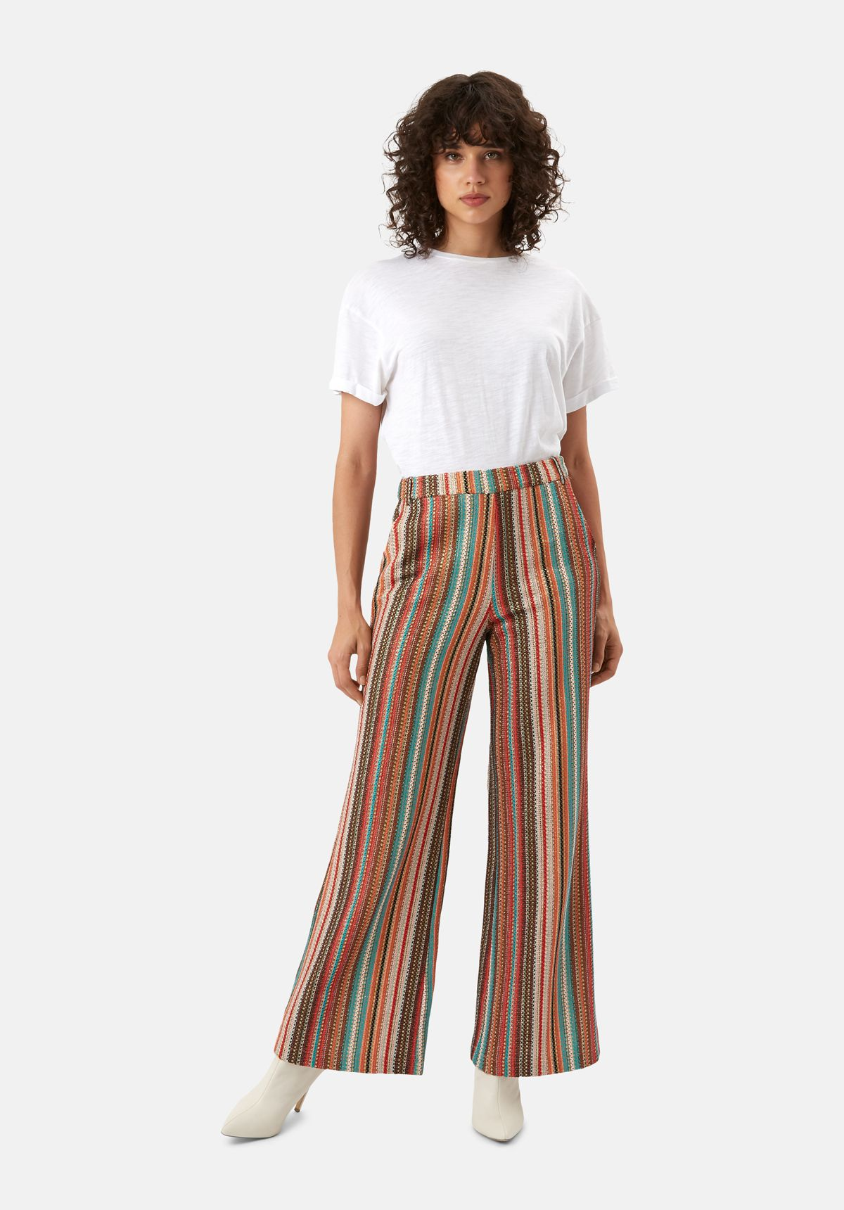 WYF Multicoloured Flared Trousers