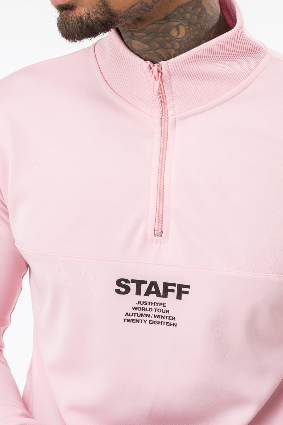 Hype Pink Staff Mens Track Crewneck