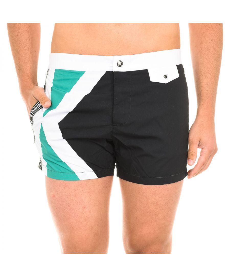 Image for Karl Lagerfeld Mens Logo Swimshorts