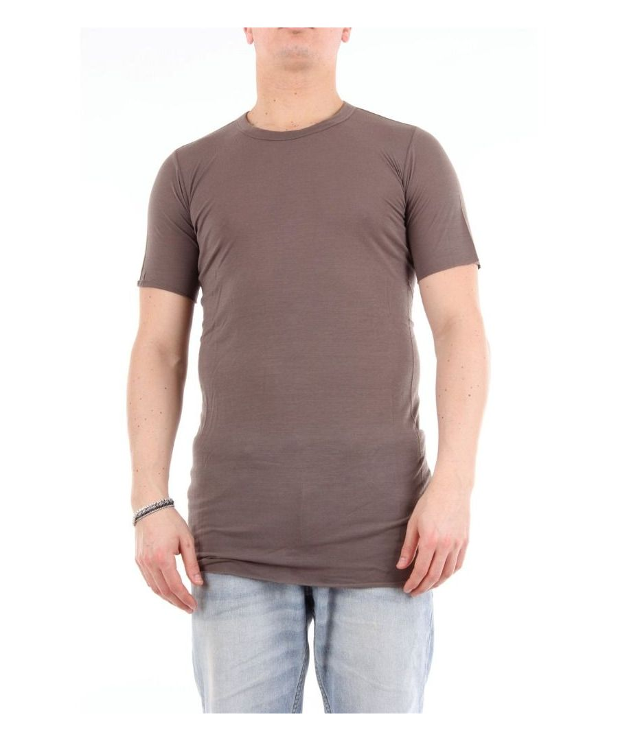 Image for RICK OWENS MEN'S RU19F4251FANGO BROWN COTTON T-SHIRT