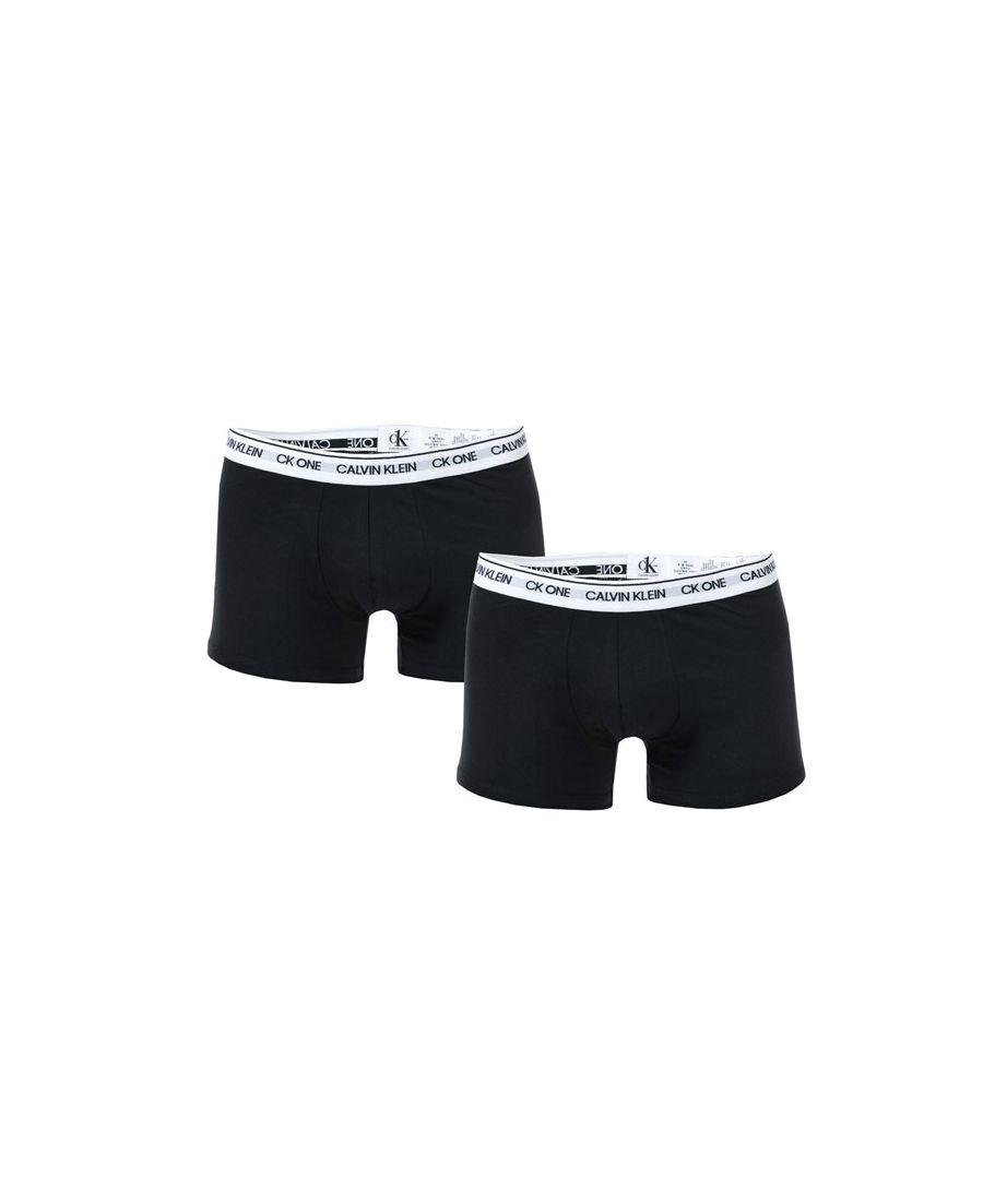 Image for Men's Calvin Klein 2 Pack Trunks in Black-White