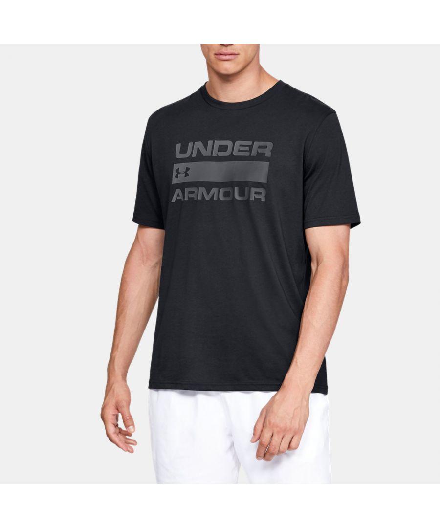 Image for Under Armour Men's UA Team Issue Wordmark T-Shirt, Black