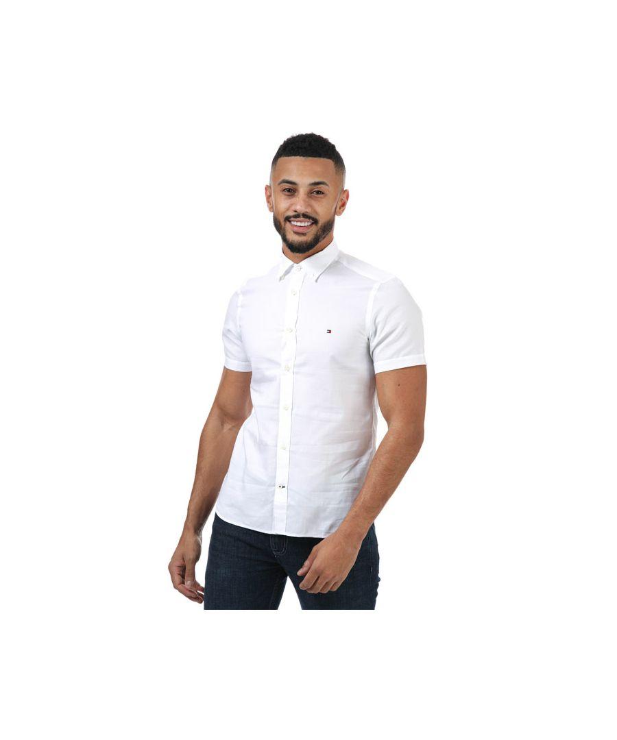Image for Men's Tommy Hilfiger Slim Travel Oxford Shirt in White