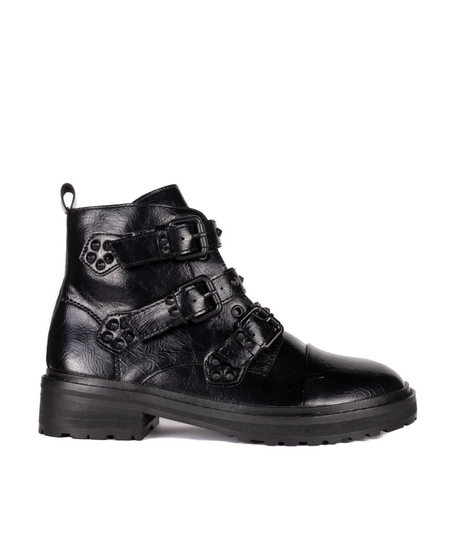 Image for María Barceló Buckle Ankle Boot in Black