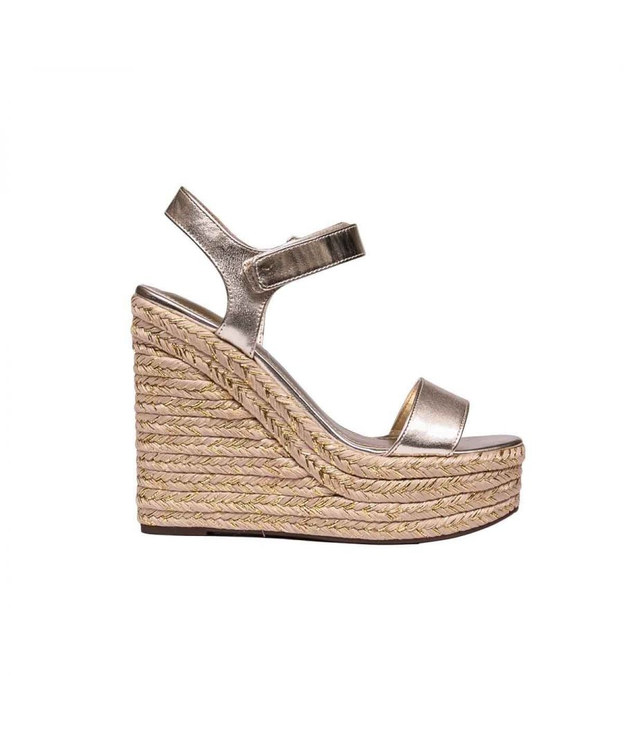 Image for KENDALL + KYLIE WOMEN'S KKGRAND12 BRONZE LEATHER WEDGES