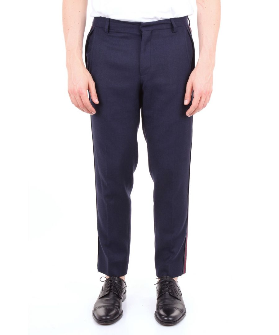 Image for ALESSANDRO DELL'ACQUA MEN'S AD7186G0071EBLUE BLUE POLYESTER PANTS