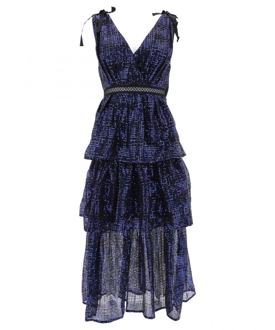 Image for SELF-PORTRAIT WOMEN'S SP23095BLUE BLUE POLYESTER DRESS