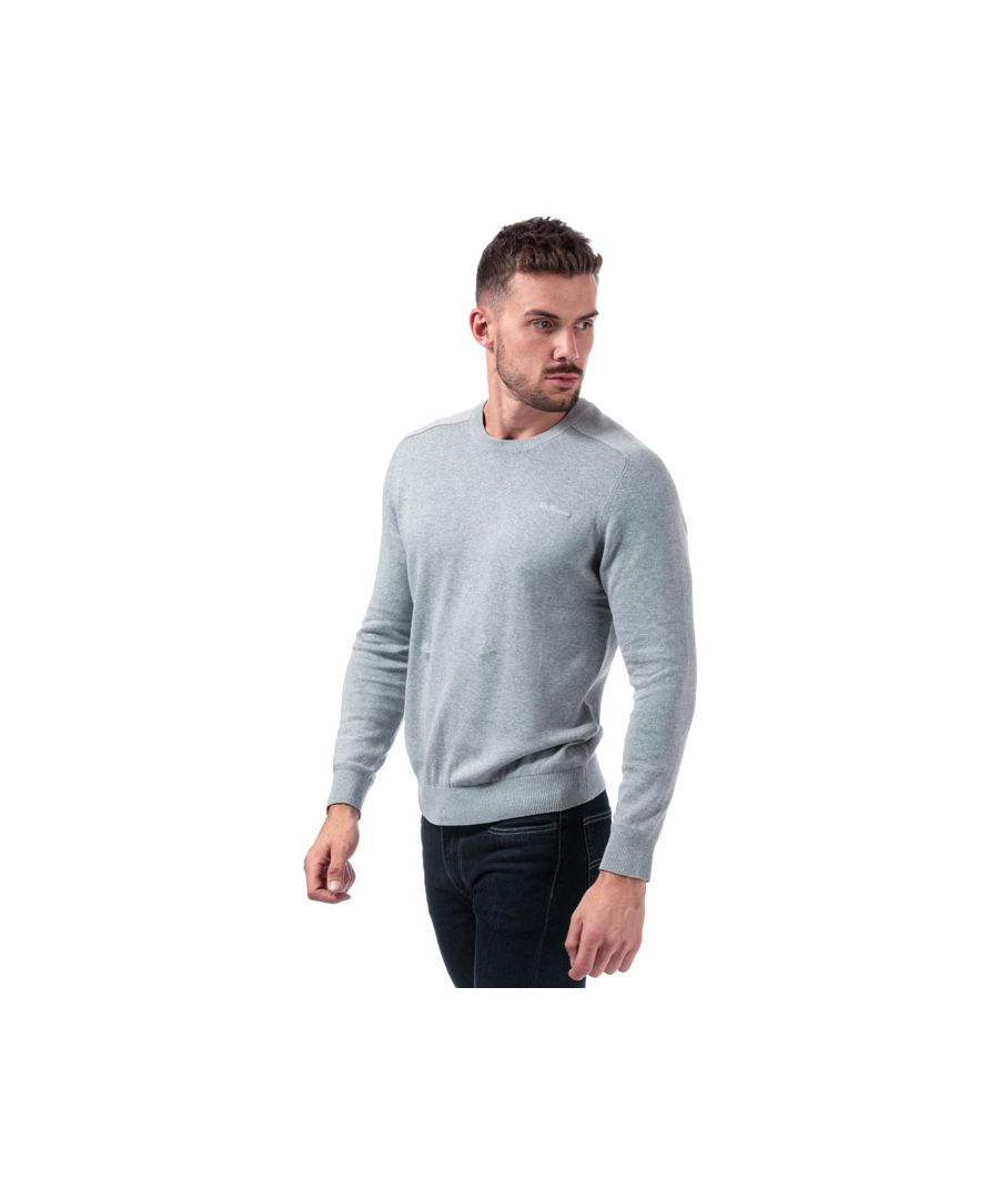 Image for Men's Ben Sherman Saddle Crew Neck Knit in Grey